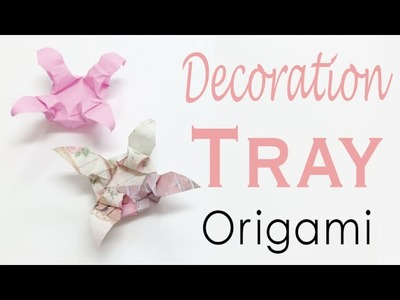 Origami Paper Decoration Tray ✨DIY✨ Instruction - Origami Kawaii 〔#129〕