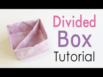 Origami Paper Divide Box ♪DIY♪【A4 paper】 - Origami Kawaii〔#133〕