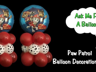 Paw Patrol Balloon Decoration Idea - Dollar Tree DIY