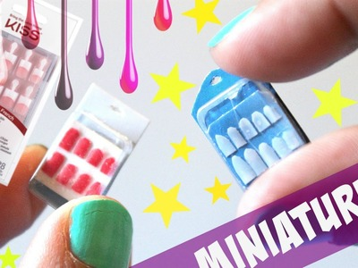 Realistic Miniature Fake nails | Miniature DIY