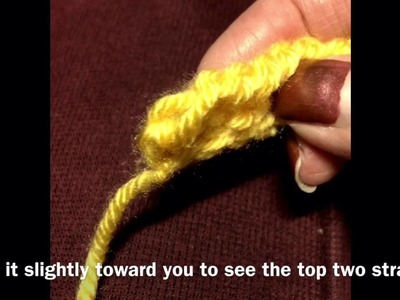 Tunisian Crochet: How to work the last stitch in a row