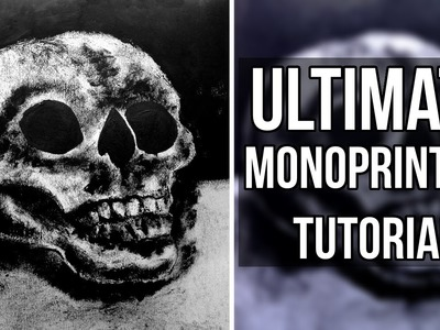 ULTIMATE GUIDE TO MONOPRINTING | DIY PRINT | How to make a monoprint