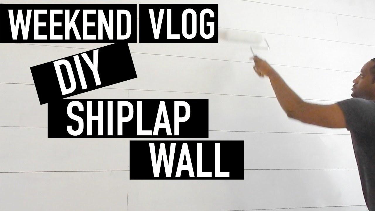 WEEKEND VLOG | DIY SHIPLAP WALL IN MY OFFICE + GROCERY SHOPPING