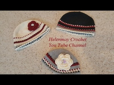 A Touch of Cranberry Delight Matching Crochet Hat for Baby or Adult DIY Tutorial