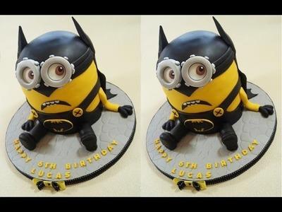 Batman Cake Minion Cake How To - Max's Cake Studio