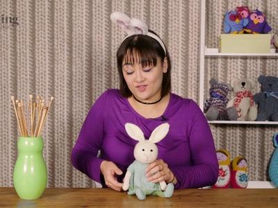 Bunny Rabbit Girl Toy Knitting Pattern (The Knitting Network WTD060)