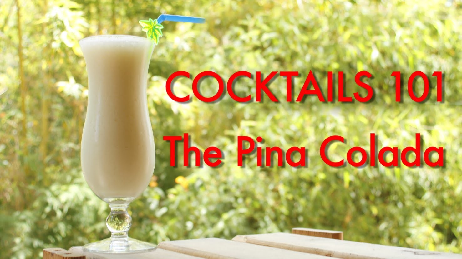 Cocktails 101| How To Make A Pina Colada Tropical Cocktail| Drinks Made Easy