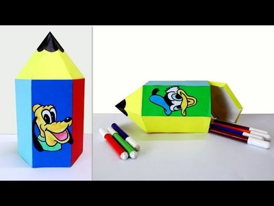Crafts for Kids : How to Make a Cute Pencil Shaped Box | Fun Crafts for Kids