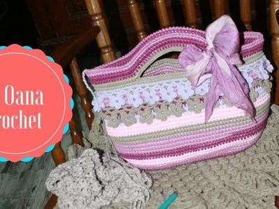 Crochet embellishment for crochet bags