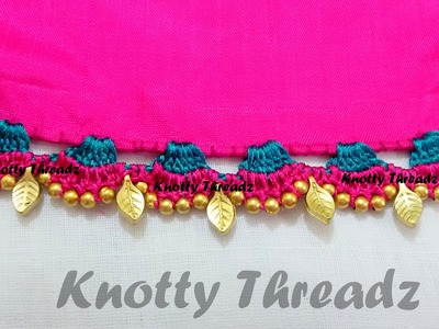 Crochet | Krosha - How to make Saree Tassels - Design 2