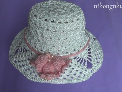 Crochet summer hat tutorial - Pattern 1 (engsub)