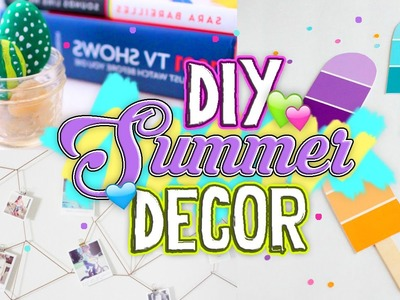 DIY Summer Room Decor! Cute & Affordable Tumblr Inspired Decor 2016. Jill Cimorelli