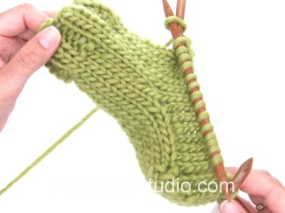 DROPS Knitting Tutorial: How to work a heel on a knitted sock