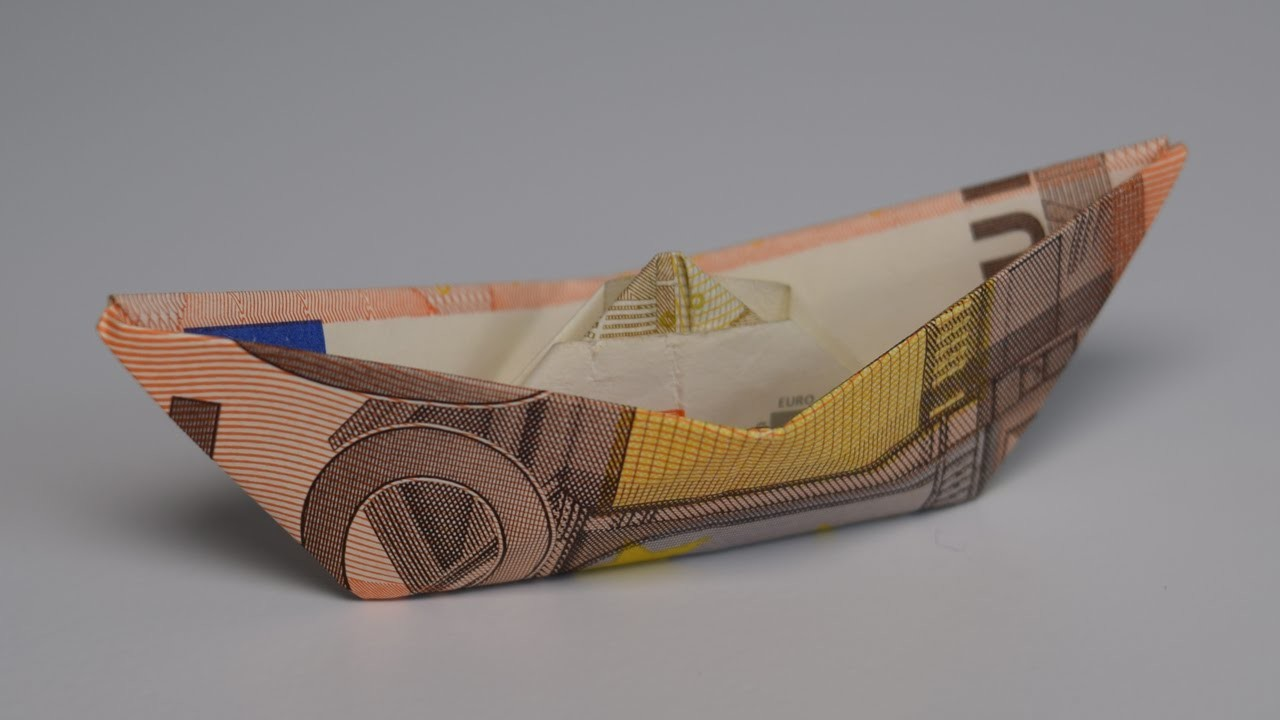 Euro Origami: Ship | 50 Euro  | Easy tutorials and how to's for everyone #Urbanskills