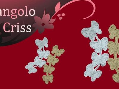 """Farfalle all'uncinetto """"incatenate"""" -  mariposas en crochet - crochet butterflies"""