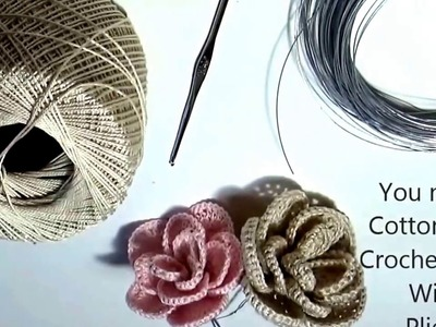 How To Crochet a Beginner Easy Flower | How To Crochet A Flower | Crochet Easy Flower