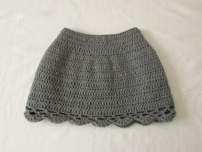 How to crochet an EASY lace edge skirt - any size