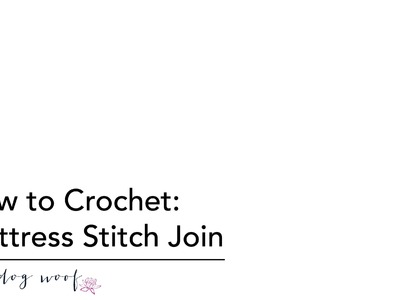 How to Crochet: Mattress Stitch Join Method