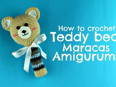 How to crochet Teddy Bear Maracas Amigurumi   World Of Amigurumi