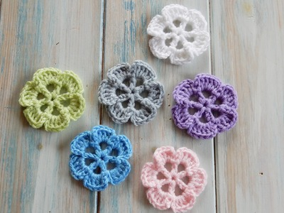 How To Crochet Wheel-Spoke Flower