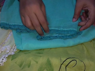 How to decorate your duppata(chunni) in hindi