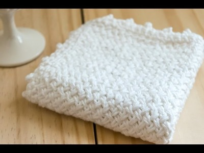 How To: Diagonal Basket Weave Knit Washcloth (Purl Side)