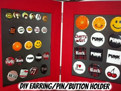 How To DIY A Stand-Alone Earring.Pin.Button Holder.Organizer