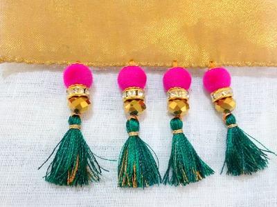 How to do Saree Kuchu with Beads - Design 3