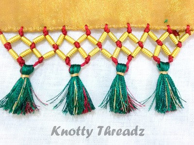 How to do Saree Kuchu with Beads- Design 5