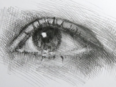 How to draw a realistic eye in pencil on paper - Tutorial