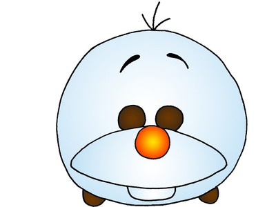 How to Draw Cute Olaf from Frozen Disney Tsum Tsum