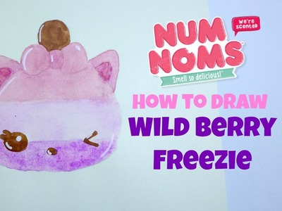 How to Draw Num Noms Series 2 Wild Berry Freezie Watercolor Drawing