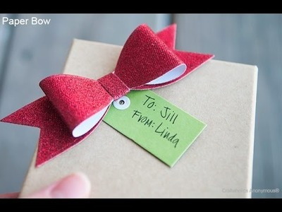 How to fold a paper Bow.Ribbon - Amazing paper origami tutorial