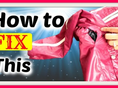 How to invisibly fix and repair an open jacket seam from within  [Secret crush on glam]