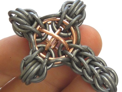 HOW TO MAKE A CROSS PENDANT? MAILLE PATTERN TUTORIAL