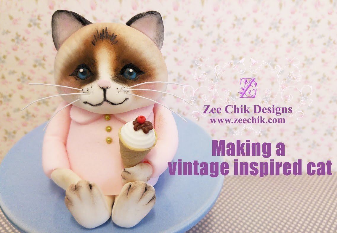 How to make a vintage inspired cat