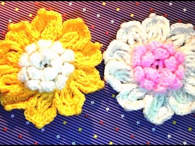 How To Make Easy Flower In Crochet At Home | Easy Flower In Crochet | Simple Flower