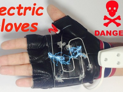 How to make ELECTRIC SHOCK GLOVES at Home | HomeMade
