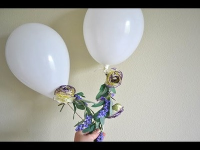 How to Make Floral Streamer Balloons