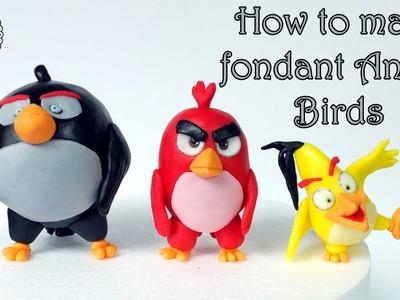 How to make fondant Angry Birds. Jak zrobić figurki Angry Birds