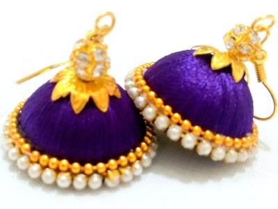 How to make Silk Thread Jhumkas !!