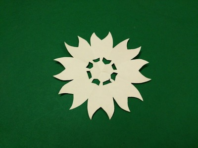 How to make simple & easy paper flower - 3 | Kirigami. Paper Cutting Craft, Videos & Tutorials.