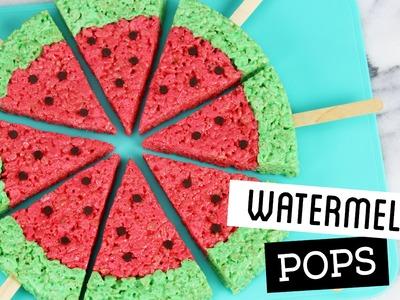 How to Make Watermelon Rice Krispie Treat Pops!