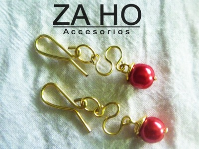 How to make Wire Earrings [QUICK AND EASY] JEWELLERY TUTORIAL 005