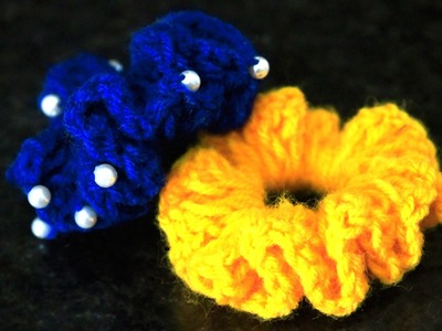 How to make Woolen Flower | Designer Hair Bands by SrujanaTV