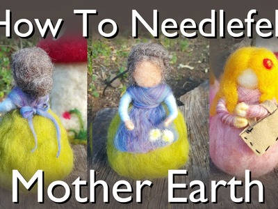 How To Needle Felt a Waldorf Doll : Mother Earth