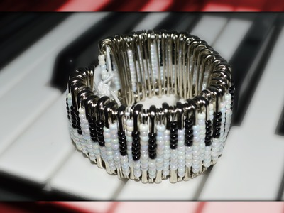 How To | Piano Safety Pin Bracelet DIY