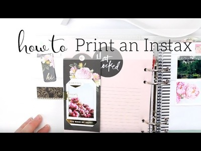 How to Print an Instax