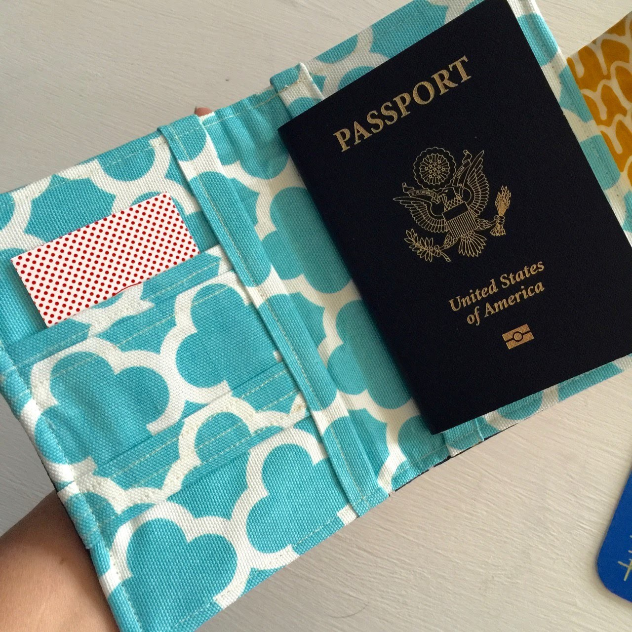 How to sew a Passport Wallet. Cover. Case