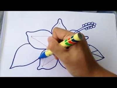LEARN HOW TO DRAW BEAUTIFUL HIBISCUS FLOWER